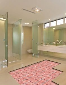 bathroom underfloor heating